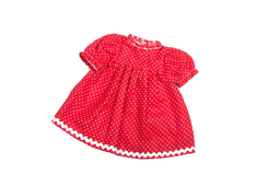 Dolls Dress 'Baby' red (30 cm)