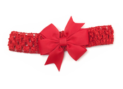 Hairband with bow 'Lotta' red