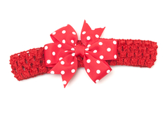 Hairband with bow 'Lotta' dots
