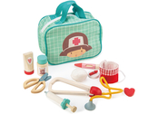 Doctor's bag with wooden instruments