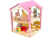 Doll house 'Pink Leaf' with furniture and dolls