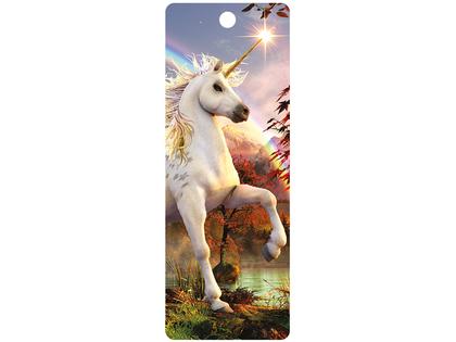 Bookmark 3D Unicorn Evening Star