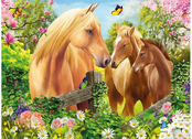 Bild 3D Häst & Två Föl