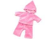 Doll clothes with hood pink (40 cm)