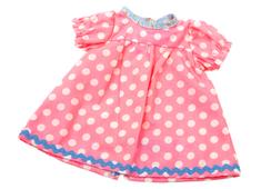 Doll dress 'Kiddy' pink/lg dot (40 cm)