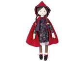 Fabric doll Red Riding Hood 'Les Jouets d'Hier' large