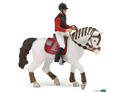 Horse for rider red