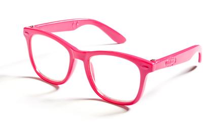 Dockglasögon (rosa/svart)