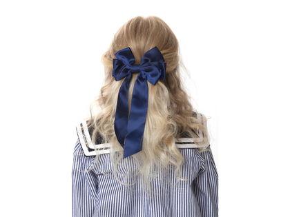 Hair clip with bow 'Mardie' pink