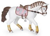 Häst till ryttare flätad