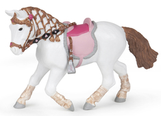 Ryttare Ponny skrittande
