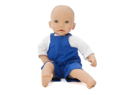 Doll clothes overalls blue (40 cm)
