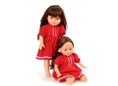 Dockklänning 'Syster' röd (40 cm)