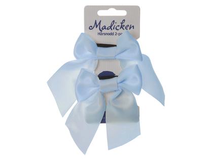 Rosetter på snodd 'Madicken' ljusblå