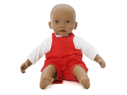 Doll clothes overalls red (40 cm)