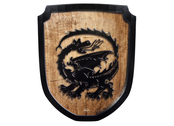 Shield small 'Dragon' wood print