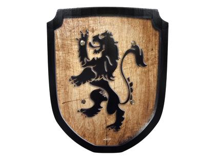 Shield small 'Lion' wood print