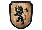 Shield small 'Lion' wood print