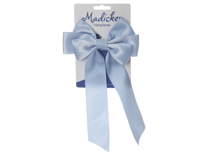 Hair clip with bow 'Mardie' light blue