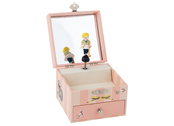 Musical box 'Les Parisiennes' with jewelry case