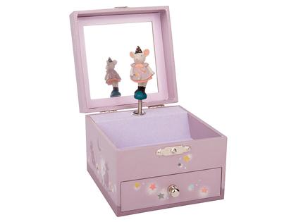 Musical box 'Il Etait une Fois' with jewelry case
