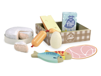 Meat & dairy in box