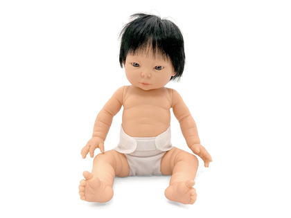 Docka Tiny 'Flicka Asien' med hår