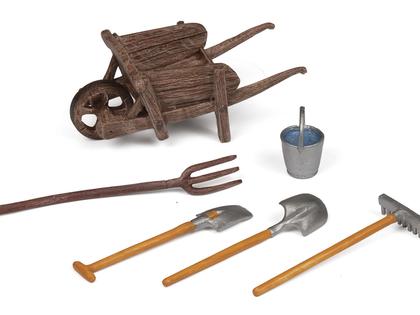 Wheelbarrow & Tools