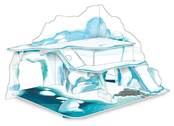 Iceberg landscape model kit