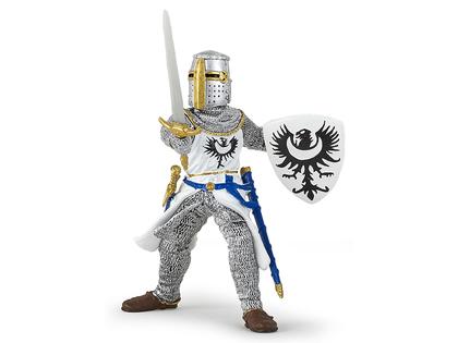 Riddare vit med svärd