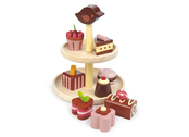 Cookie stand with pastries