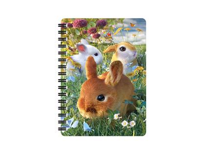 Anteckningsbok 3D Kaniner (liten)