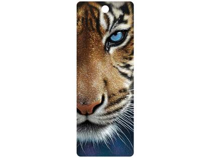 Bokmärke 3D Tiger blå ögon