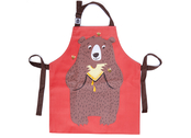 Apron 'Fred the bear' cotton canvas