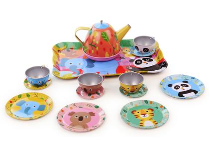 Tea Set Animals in tin
