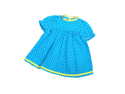 Dolls Dress 'Baby' turquois (30 cm)