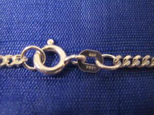 Silver halsband.Modell Pansar 45cm