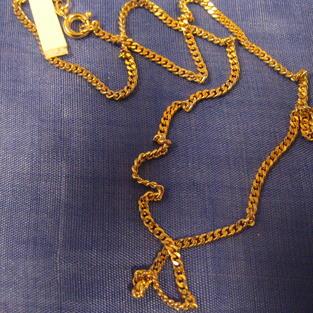 Guldförgylld kedja.Modell Pansar 50cm