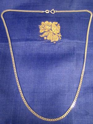 Silver halsband.Modell Pansar 40cm
