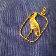 Hängsmycke i 18 K guld.Stork