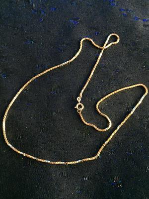 Guldförgylld kedja.Modell Venetzia. 50cm