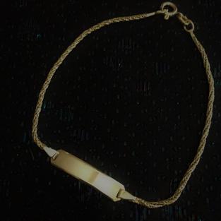 Armband i guldförgyllt silver med platta. Balestra.-70talet.18cm