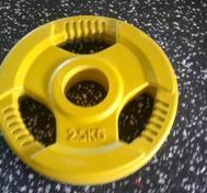 Body Power Int. 50mm 2,5kg gummi med 3 handtag