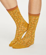 Dotty Bamboo Socks Gold