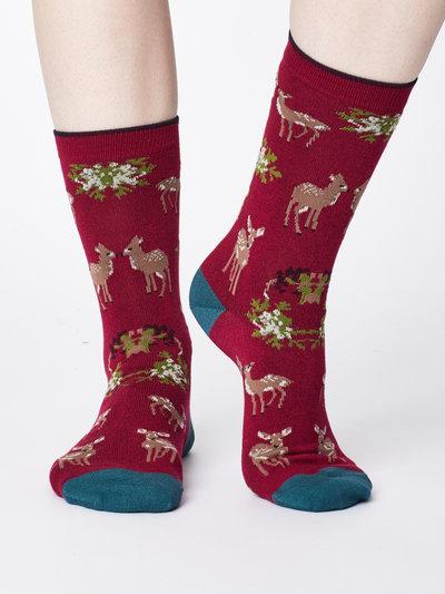 Renko Bamboo Socks Cranberry