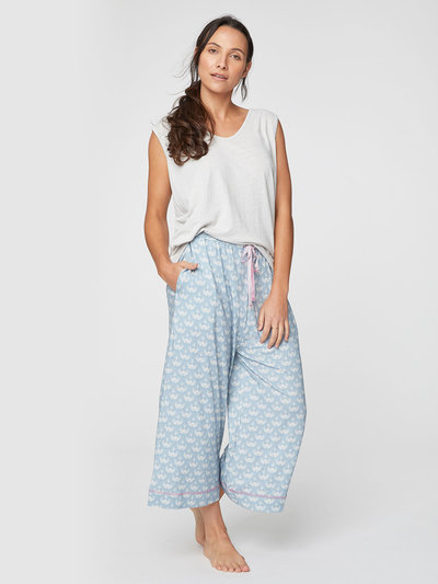 Art deco Organic Cotton  Trousers