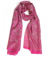Scarf Silk Double Uvas Pink