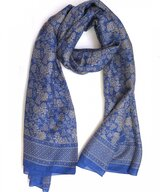 Scarf Silk Double Uvas Blue