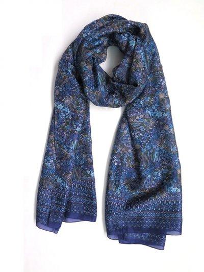 Silkessjal Dubbel Dark Blue