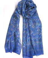Scarf Silk Double Klein Blue